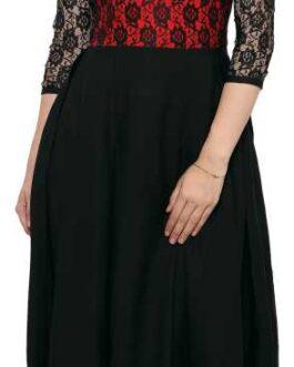 Women Maxi Red, Black Dress